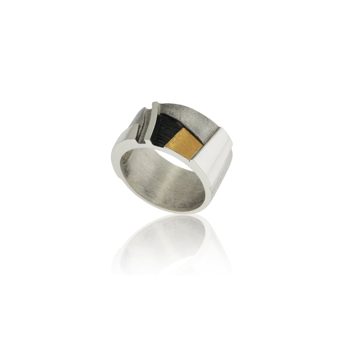 SILVER & GOLD RING