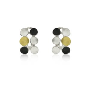 SILVER & GOLD EARRINGS. E1516