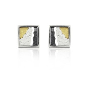 SILVER & GOLD EARRINGS. E1683
