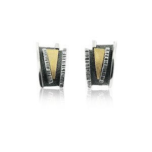 SILVER & GOLD EARRINGS. E1932